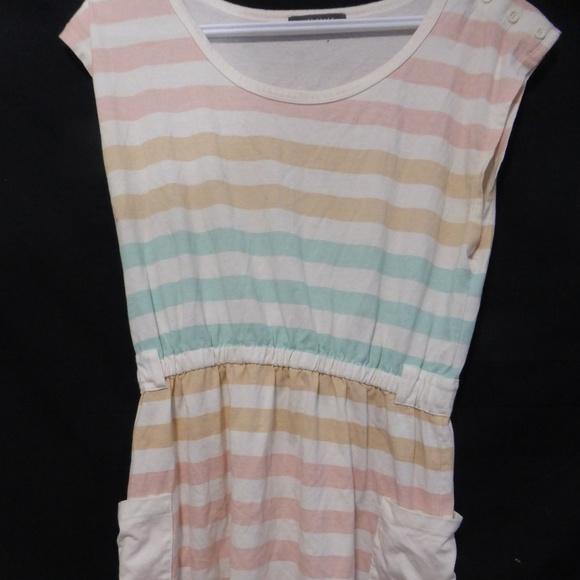 SUZY SHIER one piece spring / summer striped dress